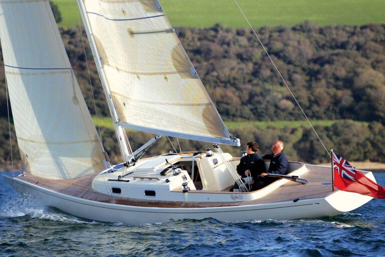 Rustler 33 sailing