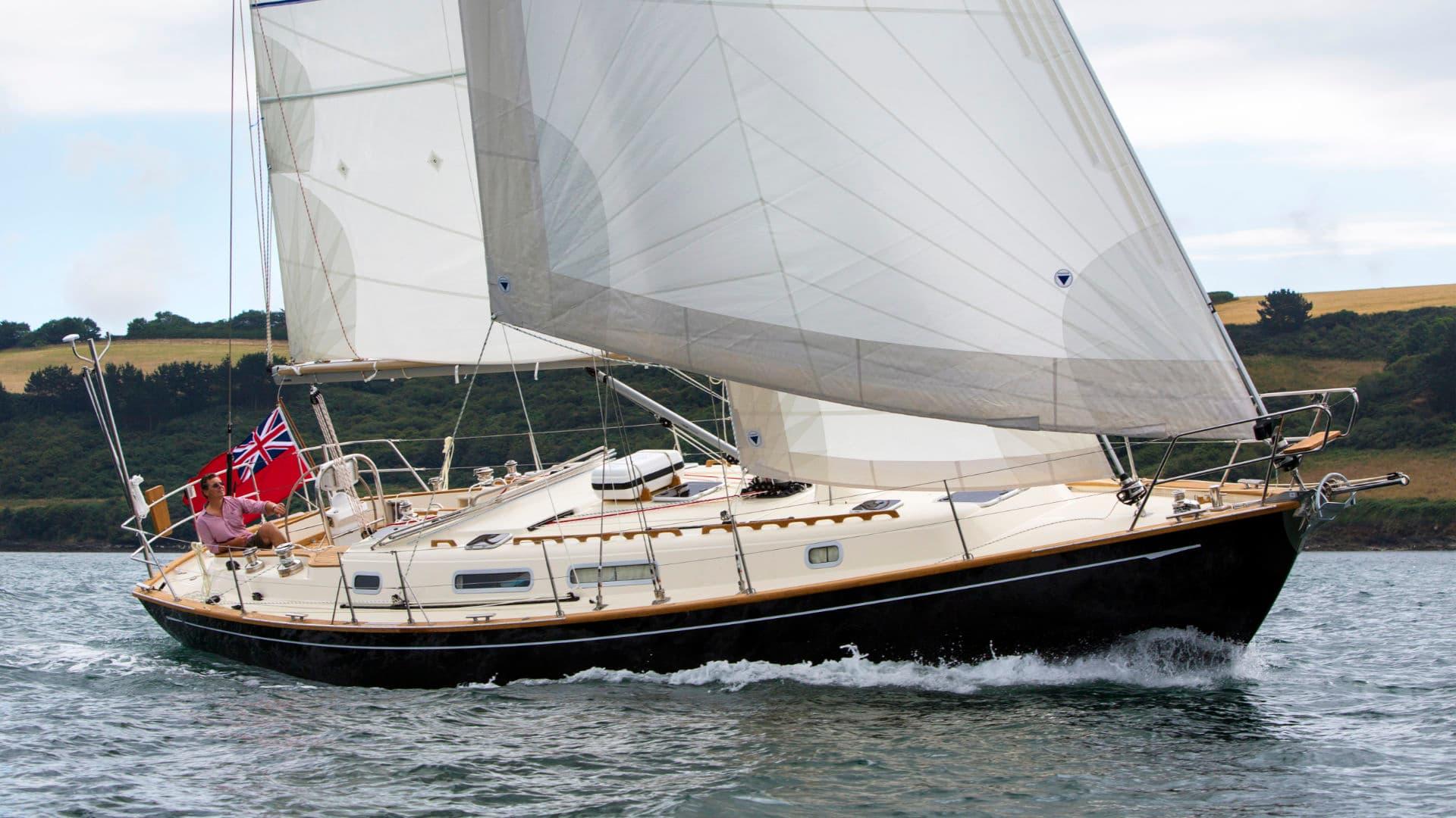 Rustler 42 sailing