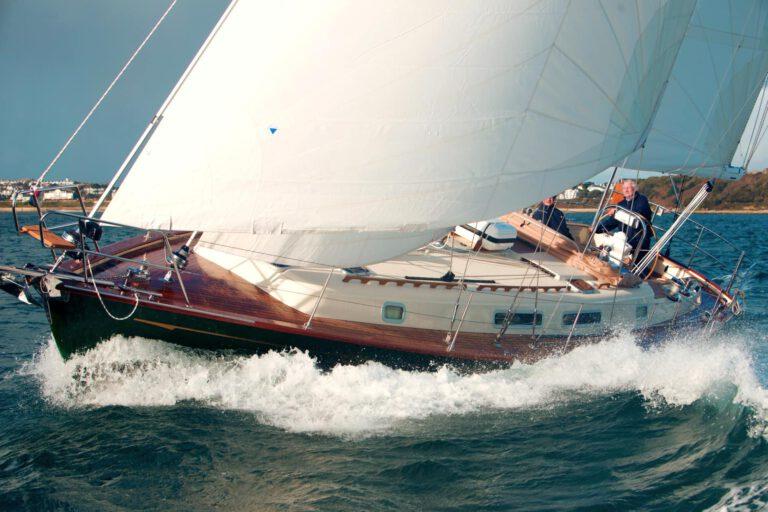 Rustler42 sailing