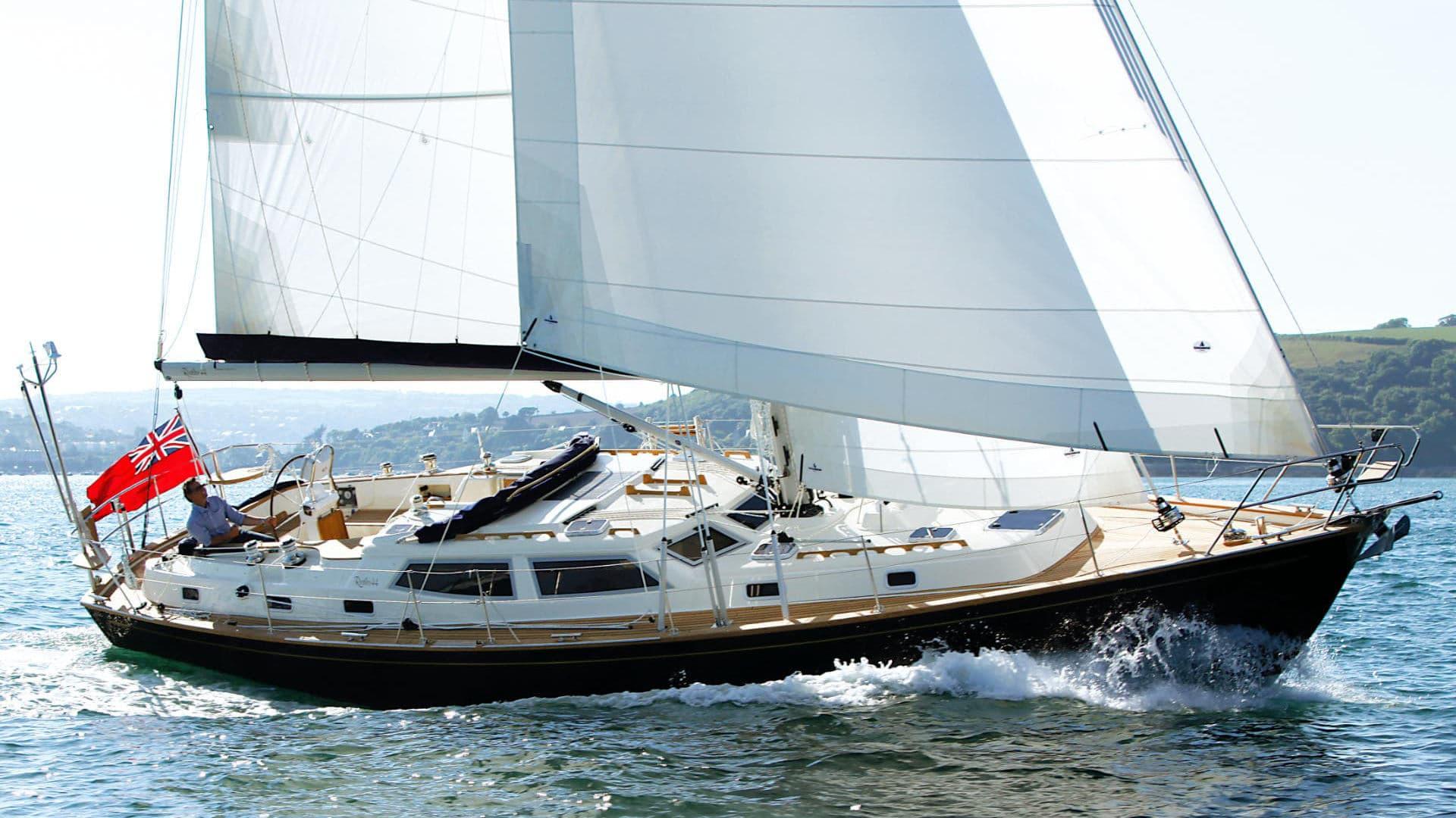 Rustler 44 sailing