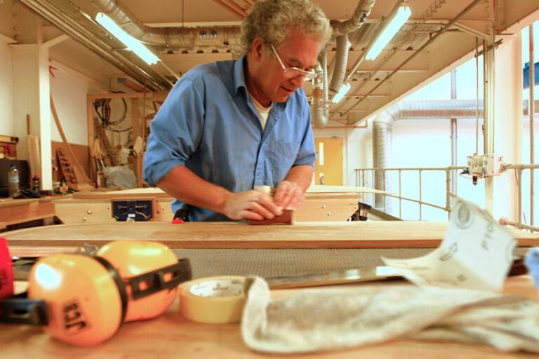 Rustler Yachts factory - craftsman at work