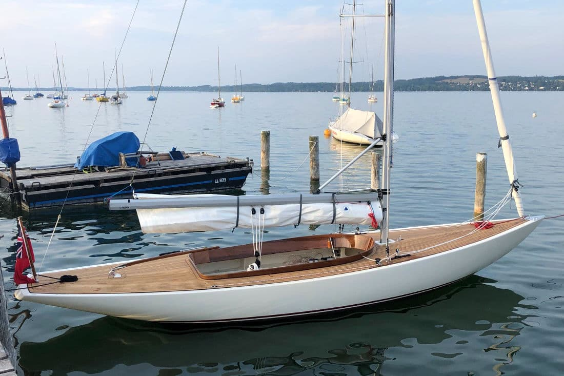 Rustler 24 moored