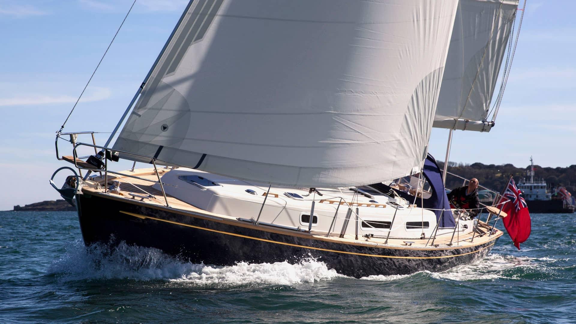 Rustler 37 sailing