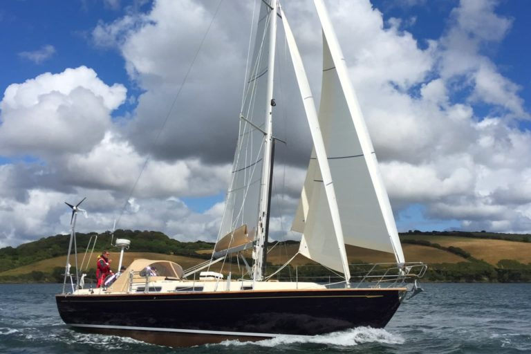 We offer the cutter rig on all our modern offshore cruising yachts