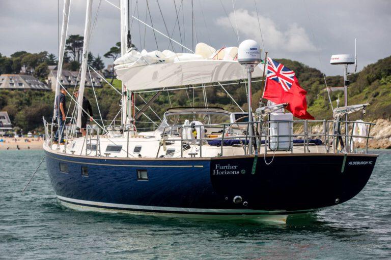 Rustler 57 at anchor