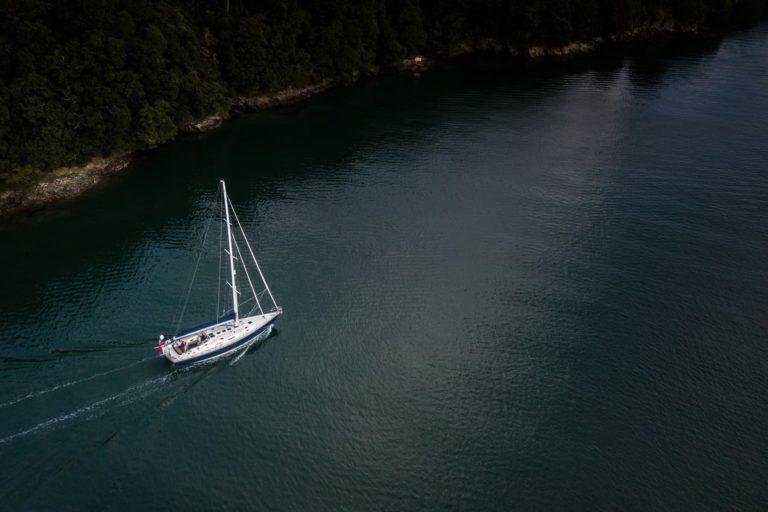 Rustler 57 sailing