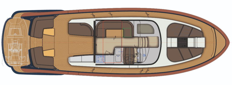 Rustler 41 - upper deck layout