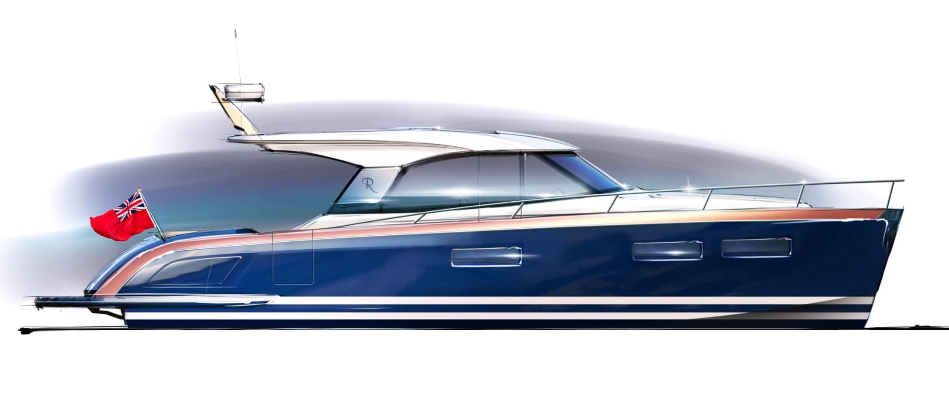 Rustler 41 Motor Yacht - profile